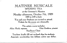Matinee Musicale : opening tea