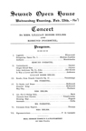Seward Opera House concert by Mrs. Lillian Dobbs Helms and Edmund Foerstel