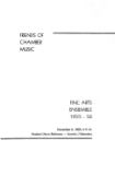 Friends of Chamber Music: Fine Arts Ensemble, 1955-56