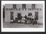 Group posed outside Bartlett Hotel