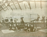 Girls' gymnastics class, Omaha Central High School