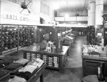 Interior view of men's department of Nebraska Clothing Company