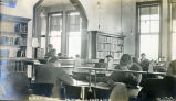 Students studying in the Union College library
